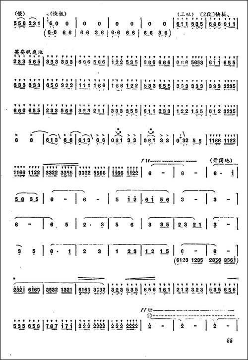 藏族女民兵-笛箫简谱|笛箫谱