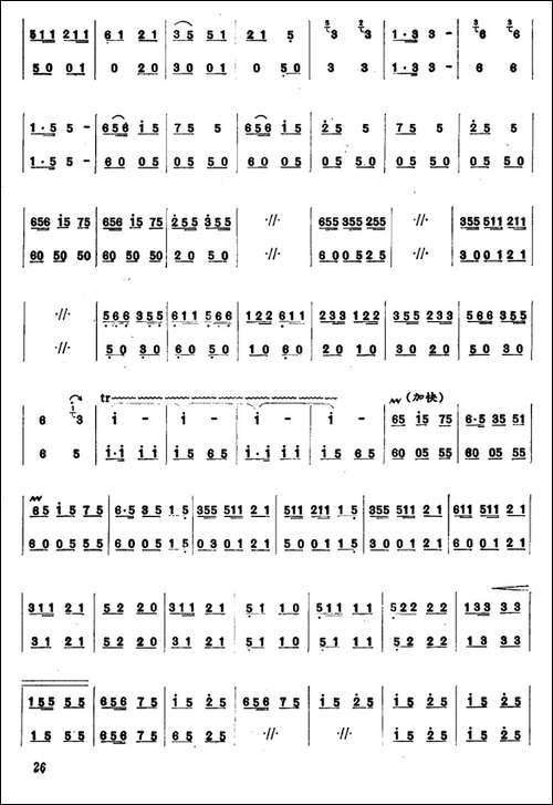 彝家新歌-笛箫简谱|笛箫谱