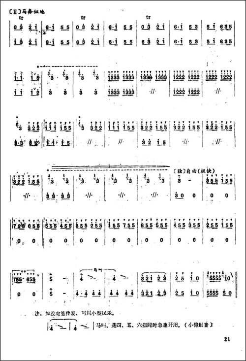 战马飞奔-笛箫简谱|笛箫谱