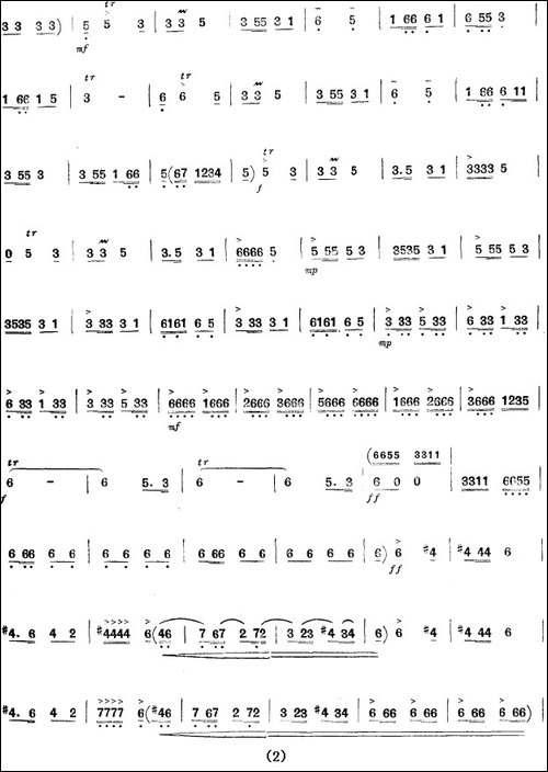 毛主席革命路线指引咱永向前-笛箫间谱 笛箫谱