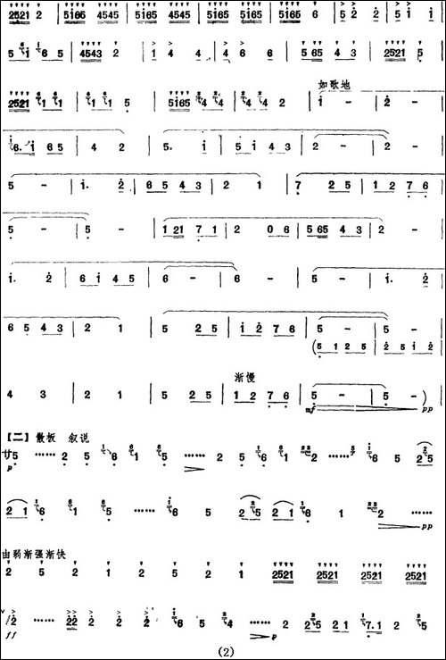相会的日子-笛箫间谱 笛箫谱