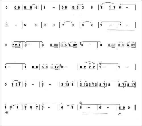 橄榄树-箫独奏曲-笛箫简谱|笛箫谱