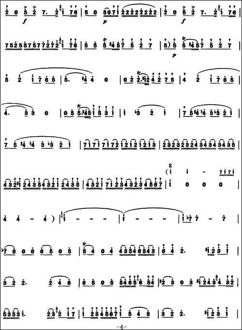 D大调长笛协奏曲第一乐章--笛箫简谱 笛箫谱