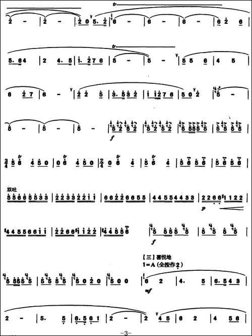 沂蒙山抒怀--笛箫简谱|笛箫谱