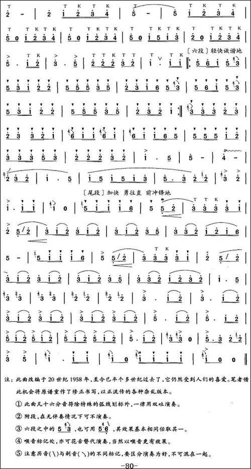 笛箫六级考级曲目:我是一个兵-笛箫简谱 笛箫谱