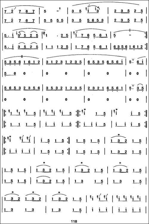 笛箫七级考级曲目:布谷鸟来了-笛箫简谱 笛箫谱