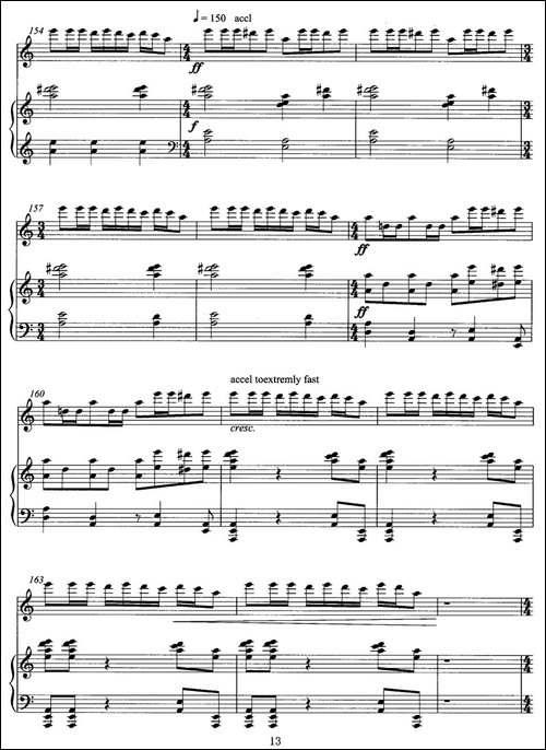飞歌-笛子协奏曲+钢琴伴奏P11—2-笛箫间谱 笛箫谱