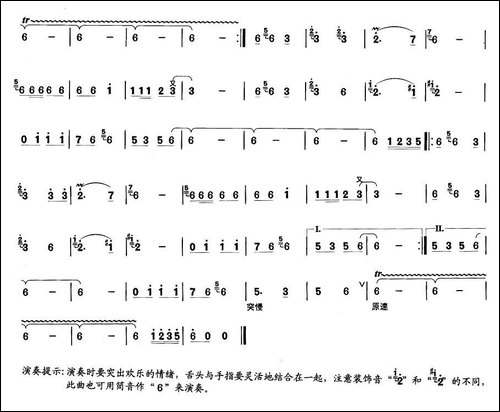 红红的日子-笛箫间谱|笛箫谱