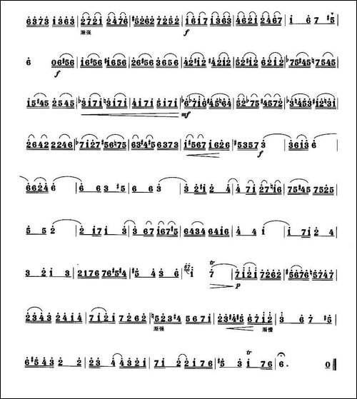 a小调协奏曲-笛箫间谱|笛箫谱