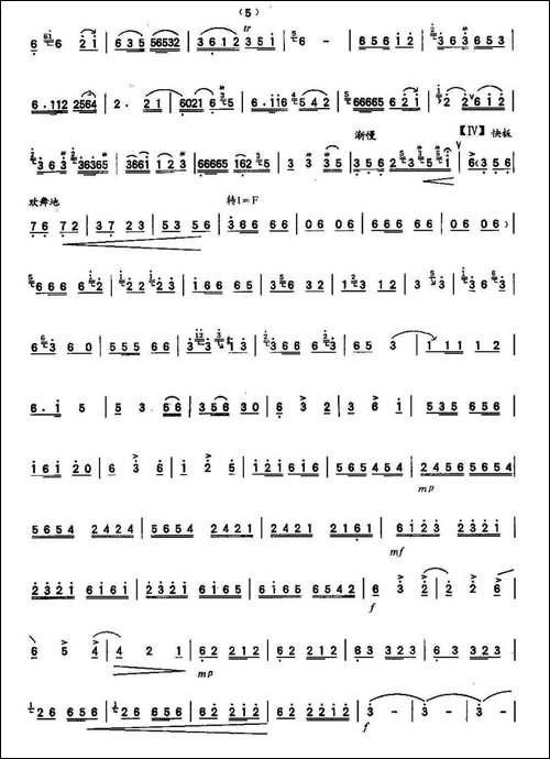 鄂尔多斯的春天-笛箫间谱 笛箫谱