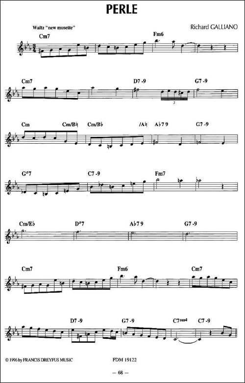 PERLE-手风琴谱