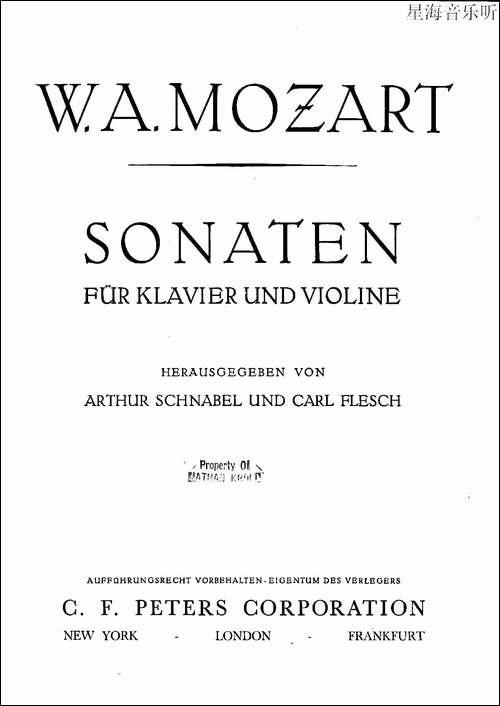 Mozart---Violin-Sonata-No.2,-KV.-303-第二小提琴奏鸣曲-提琴谱